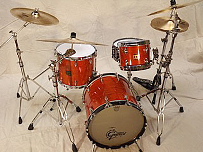 "Kit 4: Gretsch ""Bebop"" Square Badge Maple, 18 kick, 10-14 toms"